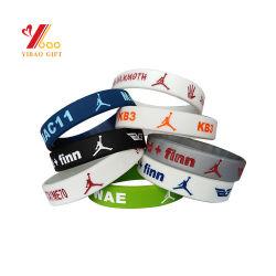 Promotional Cheap Diy Custom Logo Simple Pvc Anti Mosquito Glow Dark Personalized Fashion Sport Silicone Armband Rubber Silicon Bracelet (Yb-Sw-333)