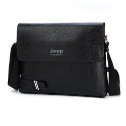 Multi Pocket Genuine Leather Messenger Bag Voor De Mens