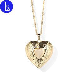 Haut de la qualité de la forme de coeur Cadre Photo en métal Pendentif Médaillon NECKLACE Bijoux
