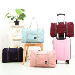 Poliéster Mult-Functional Duffel Bag Dobrável durável fácil levar mala de viagem de armazenagem de embalagens de plástico com fecho de correr