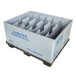 ヘビーデューティカスタム大型産業用 HDPE 積み重ね式倉庫保管折りたたみ式 / 折りたたみ式 / 折りたたみ式 オートパーツ / 物流用プラスチックパレット容器 / 容器 / 箱