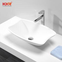 現代浴室のアクリルの石造りのカウンタートップのキャビネット単一ボールの洗面器