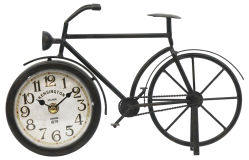 Horloge de vélo de style ancien blanc