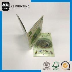 أفضل سعر ورقة فنية غير مغلفة 4/0c Saddle Stitch binding Book الطباعة