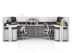 Bureau Bureau de la partition forme en U armoires et les postes de travail du personnel bureau Ordinateur de bureau défini