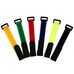 Braçadeiras de fixação reutilizável de correias de fixação para a organização e gestão do cabo do fio
