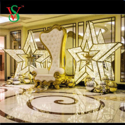 O LED 3D Motif Piscina Star Shopping Luz Decorações de Natal
