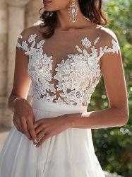 V-Neck 섹시한 패션 드레스 웨딩 신부 가운