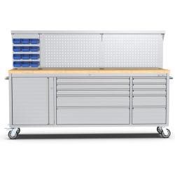 Kinbox 10 - 차고용 드로어 스테인리스 스틸 레드 캐비닛 공구 보관 공급업체