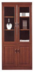 Hotsale Home kantoor meubels Houten planken klassieke stijl Glass Display Boekenkast fineer