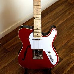 Usine OEM Semi corps creux en bois d'érable Tele guitare électrique