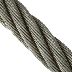 통조개 낚시에 사용되는 공장 6 * 24 + 7FC 20mm 아연 도금 강철 와이어 로프