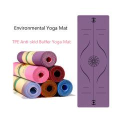 Mat van de Yoga TPE van lage Prijs de In het groot Milieuvriendelijke 3mm 4mm 6mm 8mm