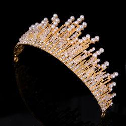 금 또는 은 다이아몬드 진주 합금 큰 크라운