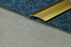 Alfombras de aluminio brillante borde de la alfombra los guarnecidos de plata y oro brillante y satinado plata y oro brillante