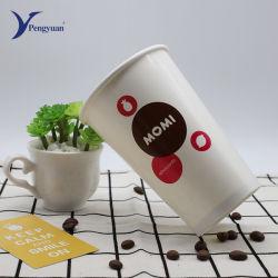 Copo de sumo grandes descartáveis personalizados copos de papel