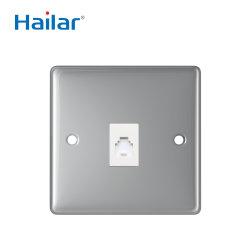 Великобритании Hailar полированный хром 1 токопроводящей дорожки телефонной розетке RJ11