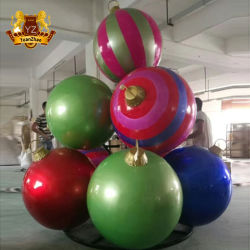 Grande boule de noël en résine peinte à la main ornements pour l'artisanat de décoration de Noël