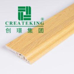 純木木製のフロアーリングのためのフロアーリングのアクセサリの隠されたPVC幅木