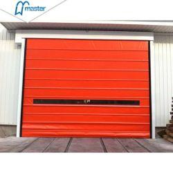 Rápido de apilamiento vertical de PVC flexible de la puerta de garaje
