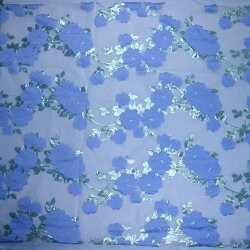 Alta Qualidade floral azul profundo Brocade Jacquard Lace