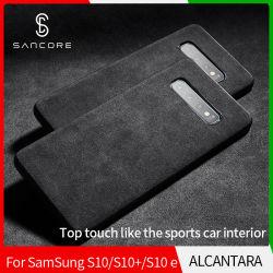 Autocollant de retour d'affaires Sancore Alcantara Sumsang S10/+/E Cas de téléphone