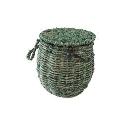 Seagrass van Renel de Met de hand gemaakte Hangende Mand van de Opslag met Handvat en Deksel