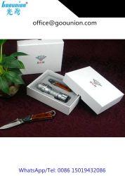 Jeu de tournevis de précision multifonctionnelle ménage Kit couteau en bois de couleur Boîte à outils à main