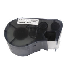 Etiqueta de cinta para Brady-1000-595-Wt-Bk Mc 19,1mm 7,6m negro sobre blanco Cinta de impresora de pvc cinta etiquetas