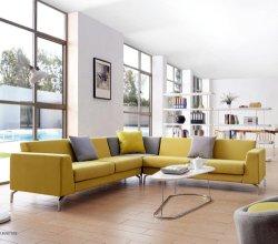 Suede sofá de couro Suite e tecido Lobby Lounge Sofá Cama Modular L forma conjunto sofá moderno mobiliário de Frank Sofá