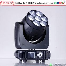 مصباح LED عالي القدرة لغسل الضوء المتحرك لغسل الرأس GBR بقدرة 40 واط Len