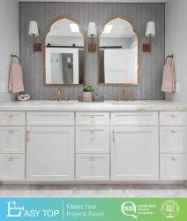 Fournisseur de Guangzhou Austria Classic Standard MDF de style Shaker armoires de salle de bain baignoire vanité