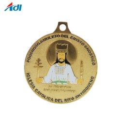 Оптовая торговля Сделать пользовательские британских цинк сплавов золота католической религиозной медаль