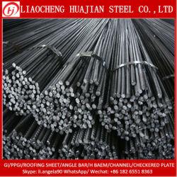 Barres d'armature en acier à barre ronde déformé le renforcement de la barre de métal de fer Tmt pour matériaux de construction