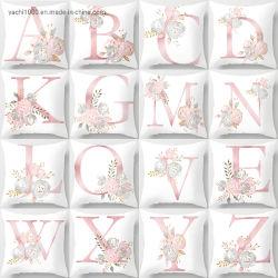 卸し売り最もよいギフト26の文字プリント枕ホーム装飾のための柔らかいプラシ天のクッション