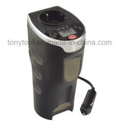 Becherhalter-Energien-Inverter Gleichstrom 12V des Auto-180W Energien-Adapter zum Wechselstrom-230V mit USB-Kanal und Wechselstrom-Anschluss