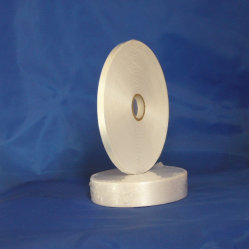 Un seul côté bord tissé polyester imprimé Satin Étiquette pour l'étiquette de soins