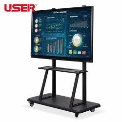 لوح أبيض ذكي LED 55، 65، 75، 85، 98 بوصة مع USB/WiFi/Bluetooth IR Digital Interactive Whiteboard مع OPS PC داخلي وكشك تفاعلي بشاشة لمس