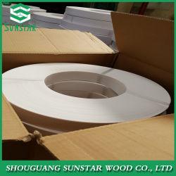 Haute brillance/gaufré/Matt/du grain du bois/solide de pièces de mobilier de couleur et texture de personnaliser le plastique PVC de baguage des pièces de mobilier de bandes de chant