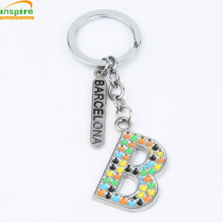 Alliage de zinc pour cadeau de promotion de la chaîne de clé Lettre&Souvenir
