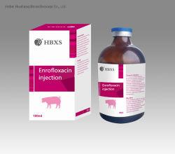 10% Enrofloxacin Einspritzung der GMP-antibiotischen Medizin für Schwein-Schafe