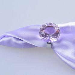 anello di tovagliolo di piccola dimensione del diamante di colore rosa di cristallo di 40mm