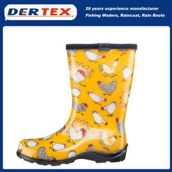 El caucho natural botines botas de lluvia resistente al agua