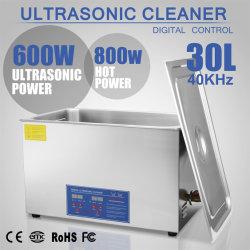 30L 1400W de limpeza por ultra-som digital de aço inoxidável com temporizador e aquecedor