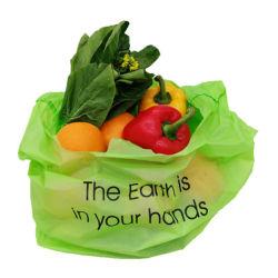 100%の生物分解性のTシャツ袋、食料雑貨入れの袋、卸し売り小売り袋
