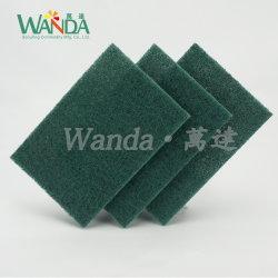 5PCS 최신 판매 부엌 청소 패드 녹색 거친 닦는 패드