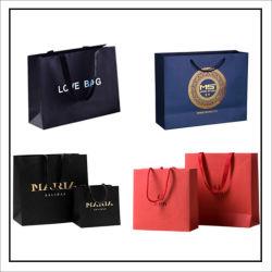 A impressão de publicidade personalizada o seu logotipo de cosméticos de embalagens de papel bag