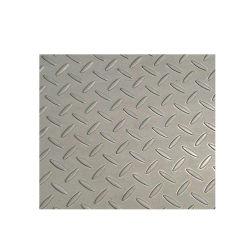 Ss400 S235JR Alliage de zinc galvanisé recouvert de tôles en acier à damier