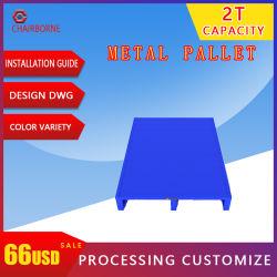 Pallet d'acciaio d'impilamento durevole del metallo del rivestimento della polvere dell'alto magazzino di caricamento