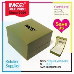 Imeeはカスタムロゴカラー様式の正方形のギフトの宝石類の装飾のまつげのペーパー包装ボックスを印刷した